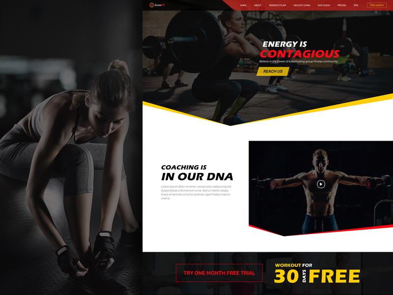 Fitness Website web application design ux ui design website concept design design concept website design web app design ux design ui  ux design ui concept