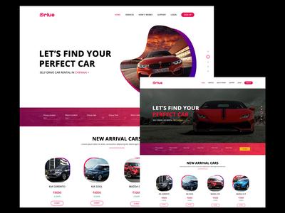 Rental Car Web App Landing Page