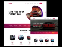 Rental Car Web App Landing Page