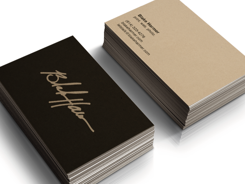 personal logo business cards by blake harmer dribbble