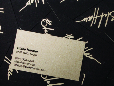 Personal Business Cards identity brand branding logo design business cards chipboard one cmyk business cards