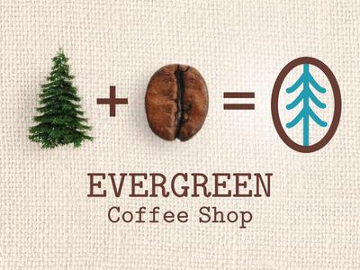 Evergreen Coffee Shop Branding