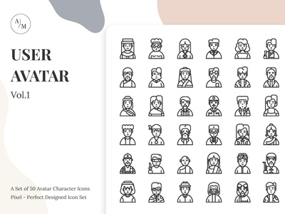 User Avatar Character Icon Set Vol.1