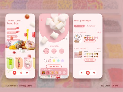 eCommerce Candy Shop interface 🍭 candyshop candy interaction design app ecommerce app interfacedesign interfaces ui design design ux design ui uidesign