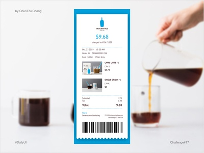 DailyUI #017 - Email Receipt