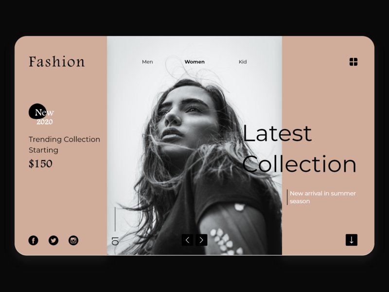 E-commerce Latest Collection - Web UI