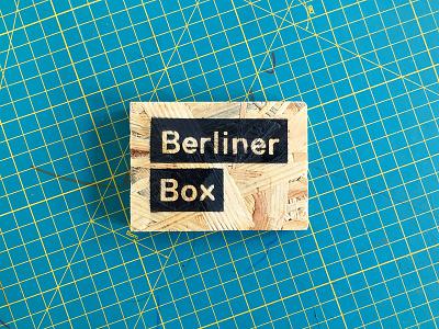 Berliner Box Logo osb wood business card box furniture modular berlin replica
