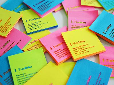 Post-it Business Card  post-it business card sticky note neon laser service design design thinking berlin