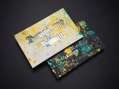 Bunga und Bunga | Business Card reflection foil berlin dj business card gold laser marble
