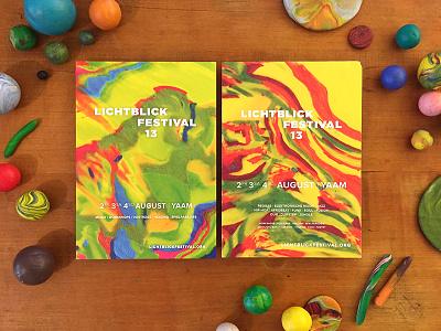 Plasticine Flyers for Lichtblick Festival abstract color music flyer festival dough plasticine