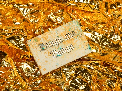 Bunga und Bunga | Business Card dj foil reflection laser marble gold business card