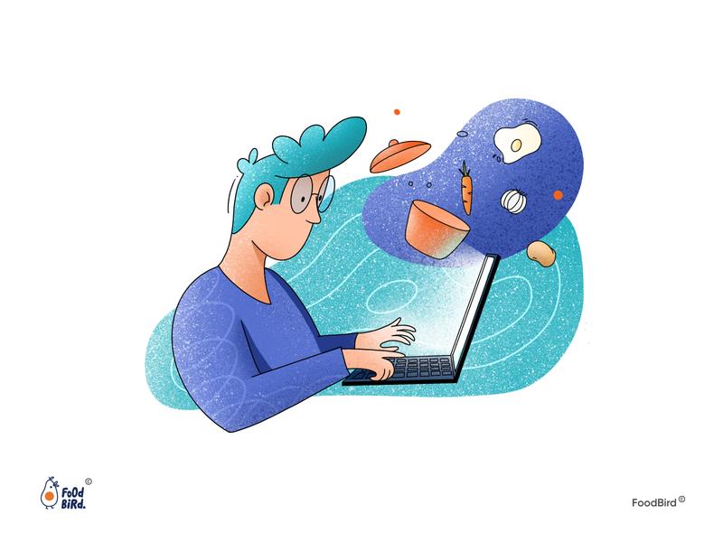 Food Bird web flat graphic design illustrator design ux ui vector illustration art