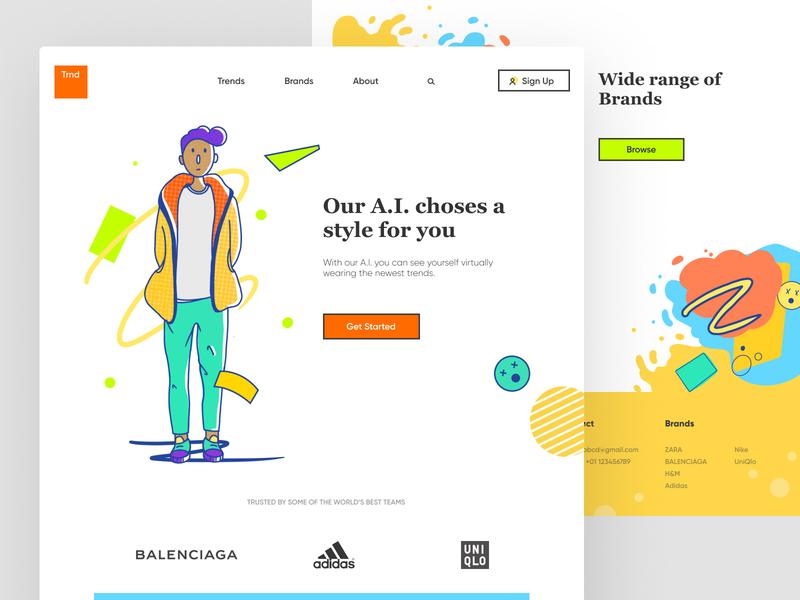 TRND graphic design userinterface logo flat art vector illustration website ux ui design
