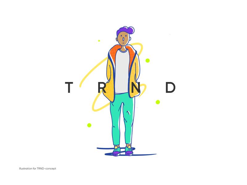 TRND logo icon graphic design typography vector branding illustration flat art design
