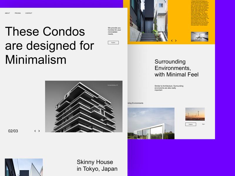 Condo web design userinterface graphic design typography website ux ui