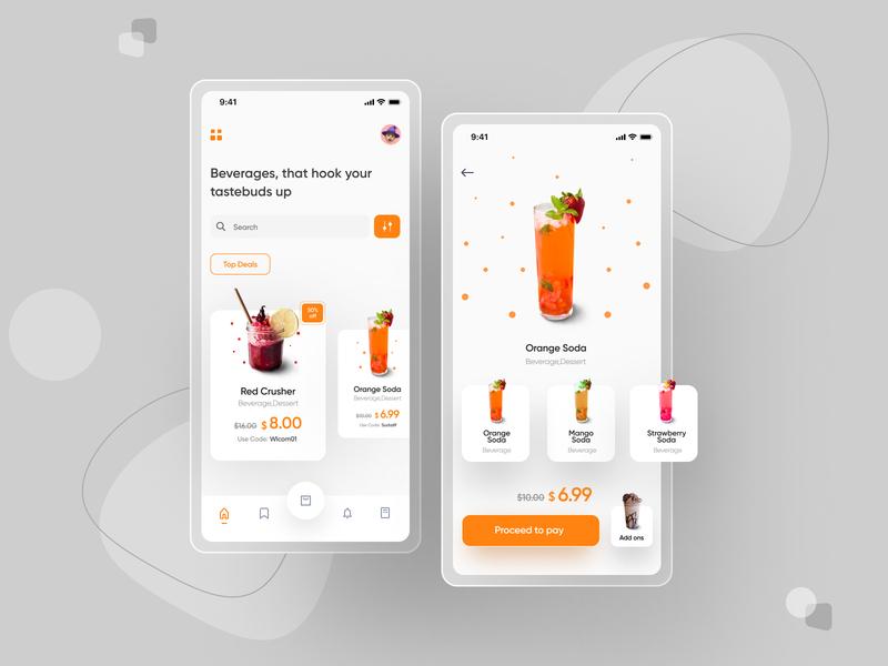 Beverager minimal typography graphic design app web website userinterface ux ui design