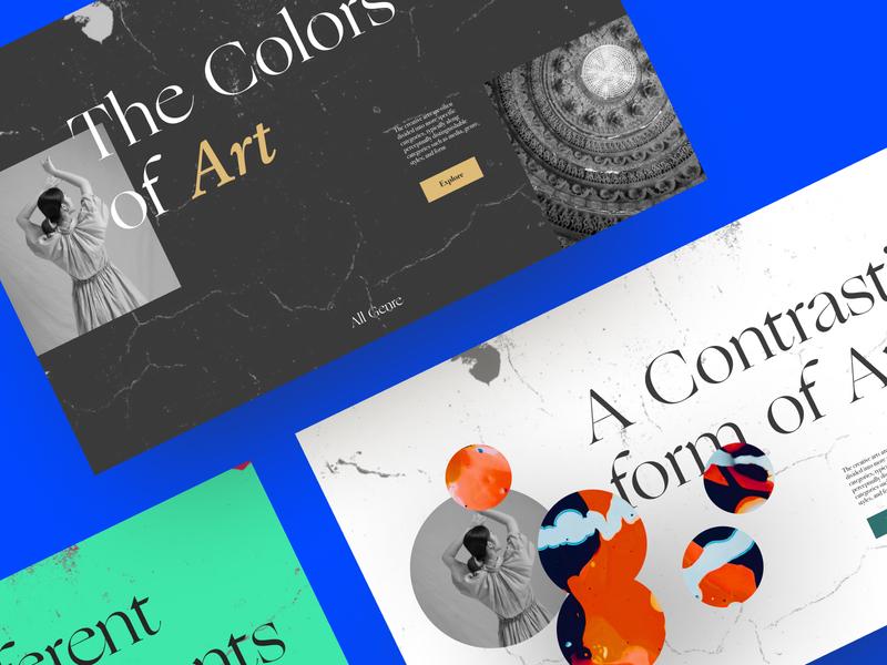 Colors of Art minimal web typography graphic design userinterface art website ux ui design