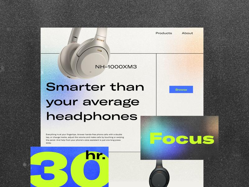 Beast Headphones Website minimal animation web typography userinterface website ux ui flat design