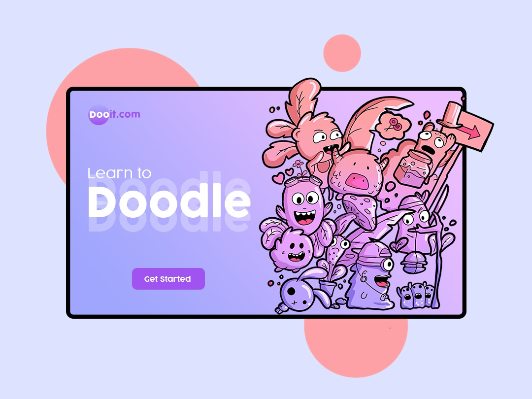 Doodle character ux art type identity app animation web vector website typography minimal clean logo ui branding graphic design illustration illustrator design