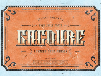 Gacoure - Layered Typeface