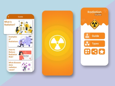 Radiation Guide App Ui Design trend trendy design guide radiation uiux app ui design app ui kit app ui mobile design mobile mobile app design design uidesign ui mobile ui mobile app app design app