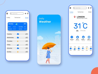 Weather Forecast App UI Design appuidesign colors appdesign application uiux weather forecast weather app weather trendy design trendy ui mobile design mobile app  ui mobile app design uidesign mobile ui mobile app app design app