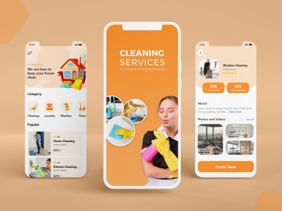 Cleaning Services App UI Design design mobile illustration logo product design graphic design app ui design cleaning services ui mobile app design uidesign mobile ui mobile app app design app