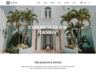 Adobe XD- Resort and Hotel HTML Template