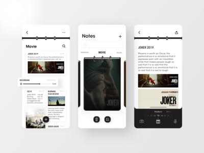 Notes App Design