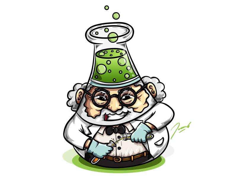 Mr Curiosity passion drawing ui professor curious cute logo branding mascot icon vector illustration design cartoon
