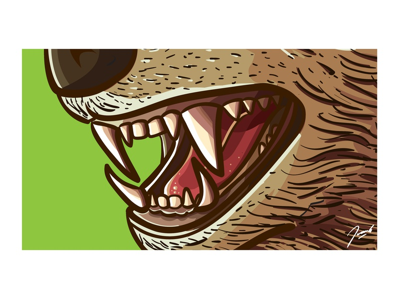 Close Up artist artistic close up detail nature illustration adobe nature bear drawing icon mascot vector illustration design cartoon
