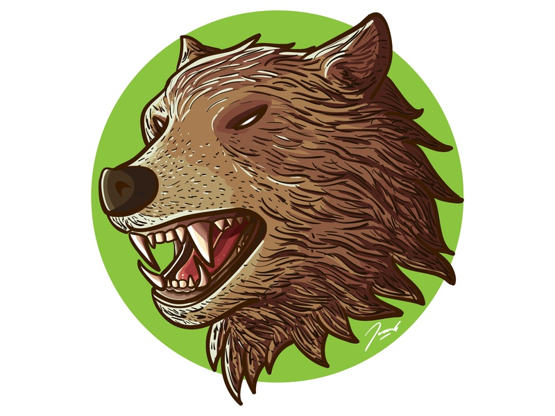 Vector Illustration of a Cool Bear illustrator digital detail tshirt cool nature bear drawing icon mascot vector illustration design cartoon