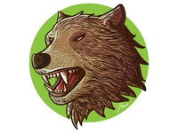 Vector Illustration of a Cool Bear