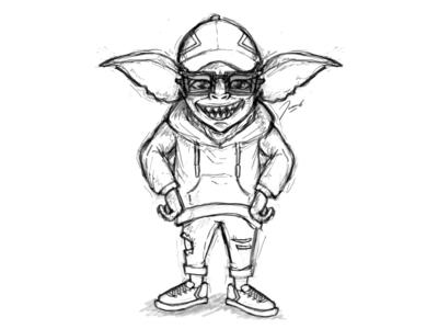 Hipster Gremlin in Progress