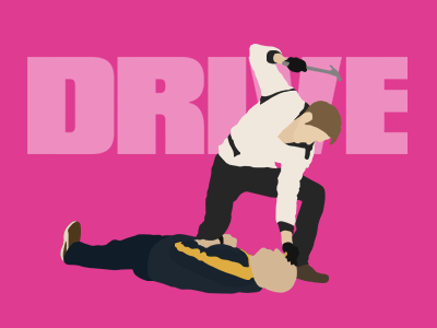 DRIVE Wallpapers drive ryan gosling 2011 hammer vector pink film violence