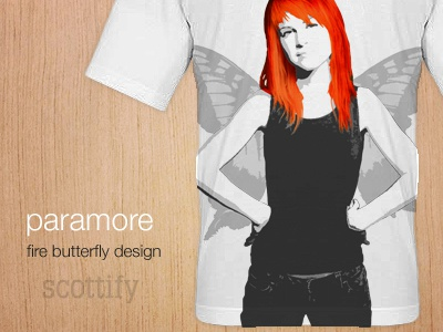 Paramore T-Shirt Design paramore red butterfly