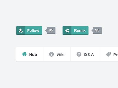 Followers & Nav bar ui clean flat fun nav menu followers icons