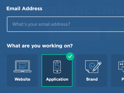 Project Type contact form ui ux clean project type icons application brand website