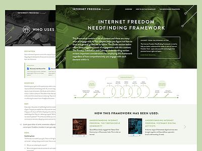 Needfinding Framework ui ux web clean website needfinding framework