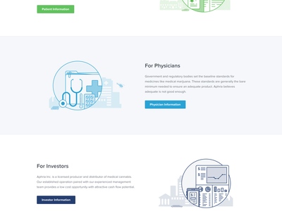 Aphria Homepage illustrations icons clean web website marketing homepage ux ui