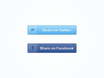 Share Buttons ui buttons clean simple share facebook twitter