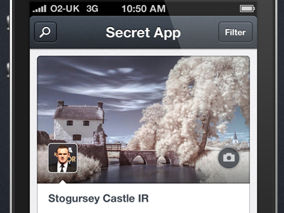 Secret App Dashboard app dashboard dark ui ios iphone