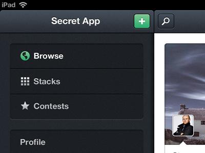 iPad Nav ipad ios nav ui dark icons navigation