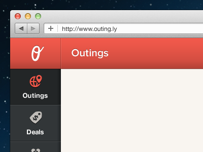 Sidebar Navigation web sidebar ui red icons ux nav menu