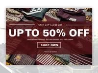 Web Banner - Knit Cap Closeout