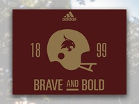 2016 Brave and Bold Bobcats Football TShirt Concept