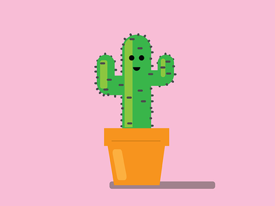 Happy Cacti  randomness cactus vector cacti