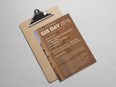 GIS Day 2016 Flyer  flyer
