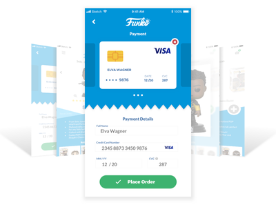 Daily UI #002 - Credit Card Checkout ecommerce checkout dailyui