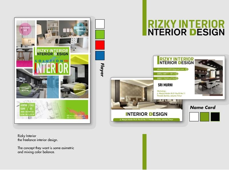 Advertising Design - Rizki Interior advertising illustration vector advertising design advertisement illustation adobe illustrator design namecard design flyer design namecard flyer